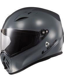 LS2 Street Fighter Helmet Battleship Gray - Snell 2020
