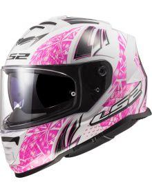 LS2 Assault Galaxy Helmet White/Pink