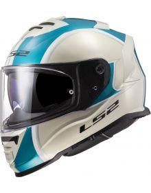 LS2 Assault Paragon Helmet Metallic Khaki/Turquoise