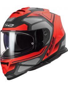 LS2 Assault Petra Helmet Matte Red/Graphite/Gray