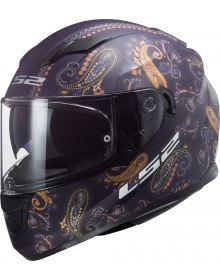 LS2 Stream Paisley Motorcycle Helmet Matte Navy