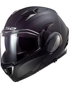 LS2 Valiant II Blackout Modular Helmet Matte Black