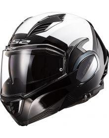 LS2 Valiant II Modular Helmet Police Edition Graphic Gloss Black/White