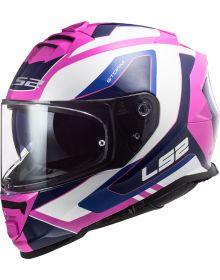 LS2 Assault Techy Helmet Gloss White/Pink