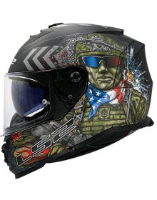 LS2 Assault Commando Helmet Black