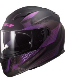 LS2 Stream Lux Helmet Matte Black/Pink