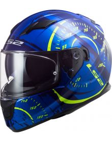 LS2 Stream Tacho Helmet Gloss Blue/Hi Viz Yellow