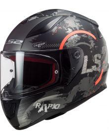LS2 Rapid Circle Helmet Matte Titanium/Fluo Orange
