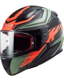 LS2 Rapid Gale Helmet Matte Black/Red/Military Green