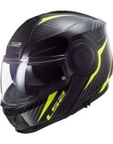 LS2 Horizon Skid Helmet Black/Hi Viz Yellow