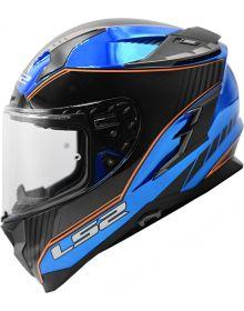 LS2 Challenger GT Boss Helmet Gloss Blue Krome