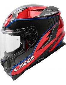 LS2 Challenger GT Boss Helmet Gloss Red Krome