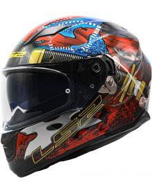 LS2 Stream Ninja Helmet Gloss Red/Blue