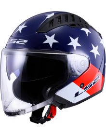 LS2 Copter American Helmet Gloss Red/White/Blue