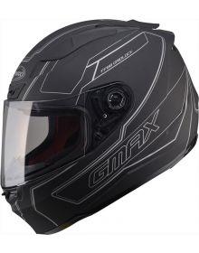 Gmax FF88 Helmet Derk Flat Black/Silver