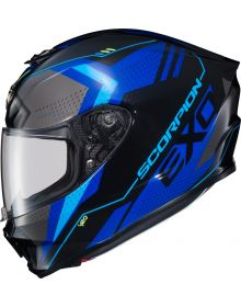 Scorpion EXO-R420 Helmet Seismic Blue