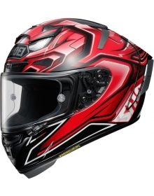 Shoei X-14 Aerodyne Helmet Red TC-1