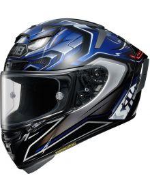 Shoei X-14 Aerodyne Helmet Blue TC-2