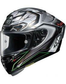 Shoei X-14 Aerodyne Helmet Green/Silver TC-4