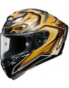 Shoei X-14 Aerodyne Helmet Gold TC-9