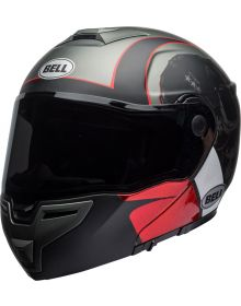 Bell SRT Modular Helmet Hart-Luck Gloss Matte Charcoal/White/Red Skull