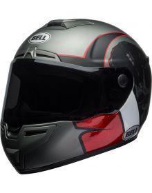 Bell SRT Full Face Helmet Hart-Luck Gloss Matte Charcoal/White/Red Skull