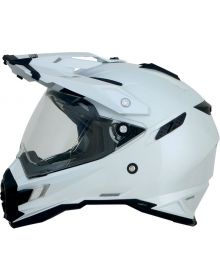 AFX FX-41 Dual Sport Helmet Solid White
