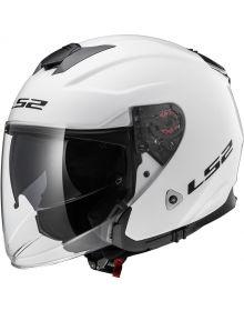 LS2 Helmets Infinity Open Face Helmet Solid White