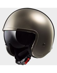 LS2 Helmets Spitfire Open Face Helmet Black/Chrome