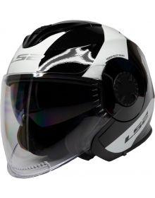 LS2 Helmets Verso Open Face Helmet Rave Black/White