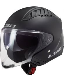 LS2 Copter Open Face Helmet Matte Black