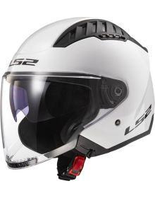 LS2 Copter Open Face Helmet White