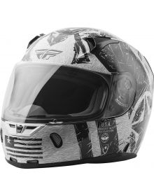Fly Racing Revolt Liberator Helmet Gloss White/Black