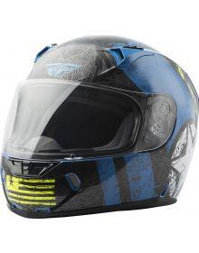 Fly Racing Revolt Liberator Helmet Gloss Blue/Hi-Vis