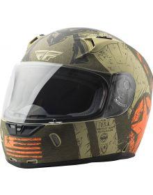 Fly Racing Revolt Liberator Helmet Matte Brown/Orange
