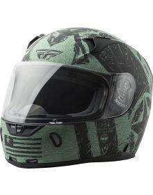 Fly Racing Revolt Liberator Helmet Matte Black/Green
