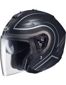 HJC IS-33 II Open Face Helmet Semi-Flat Black/Gray