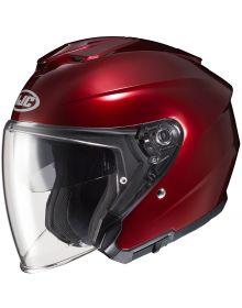 HJC i30 Open Face Helmet Wine