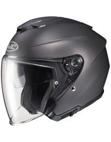 HJC i30 Open Face Helmet Semi-Flat Titanium