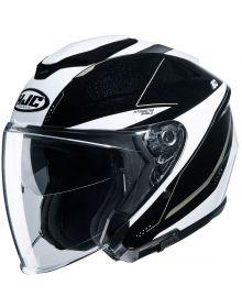 HJC i30 Open Face Helmet Black/White