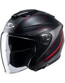 HJC i30 Open Face Helmet Black/Red