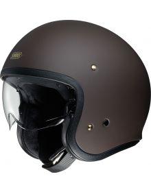 Shoei J-O Open Face Helmet Matte Brown