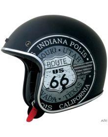 AFX FX-76 Open Face Helmet Route 66 Flat Black