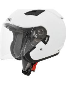 AFX FX-46 Open Face W/Shield  Helmet Pearl White
