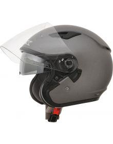 AFX FX-46 Open Face W/Shield  Helmet Frost Gray