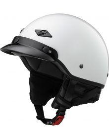 LS2 Helmets Bagger Half Helmet Solid Pearl White