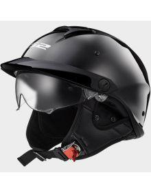 LS2 Helmets Rebellion Half Helmet Black Chrome
