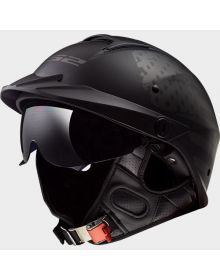 LS2 Helmets Rebellion Half Helmet 1812 Matte Black