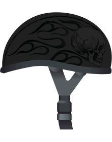 Skid Lid 1/2 Helmet Ghost Skull Flames