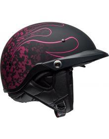 Bell Pitboss Half Helmet Catacomb Matte Black/Pink Pin